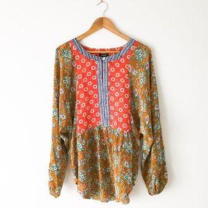NEW Anthropologie 100% Silk Tolani Tunic